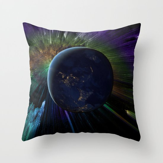You Run to Catch Up With the Sun (But It's Sinking) Throw Pillow
