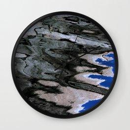 grey abstract water reflection Wall Clock
