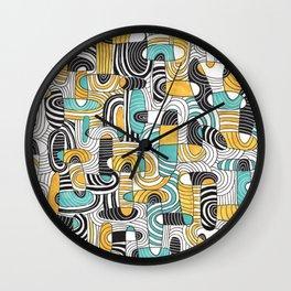Ovals & lines Wall Clock