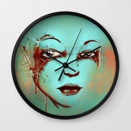 Rusted Girl green Wall Clock