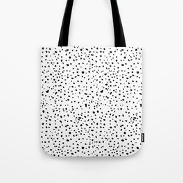 spotty dotty in black and white Tote Bag