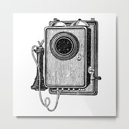 Old telephone 2 Metal Print