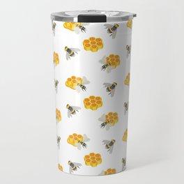 Honeybees and Honeycombs Travel Mug