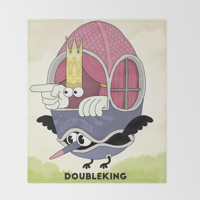 DOUBLE KING: Ovum Regia Throw Blanket