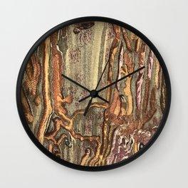 Worm Eaten Wood Wall Clock