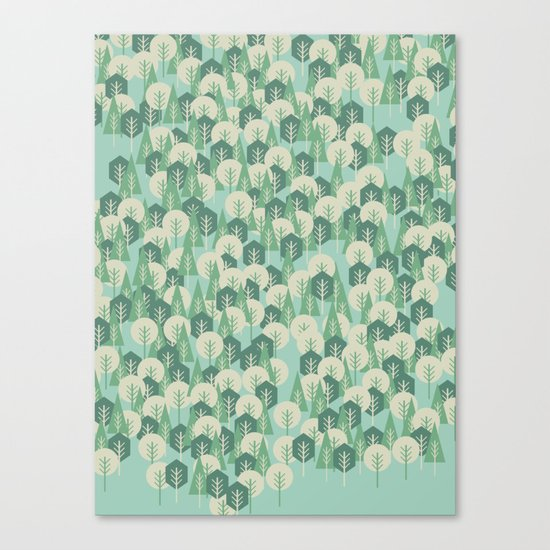 Geometric Woods Canvas Print