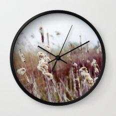 Autumn Reeds Wall Clock