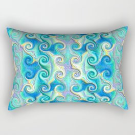 Seamless Wave Spiral Abstract Pattern Rectangular Pillow