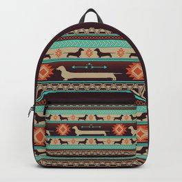 Boho dogs | Smooth Dachshund sunset Backpack
