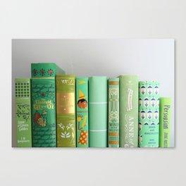 shelfie in green Canvas Print