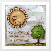 Be the Light - by Diane Duda Art Print