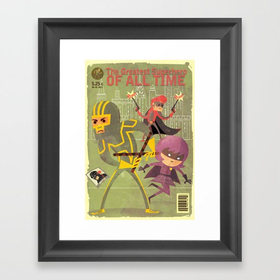 kick ass fan art 2 Framed Art Print
