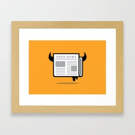 Good News For People Who Love Bad News Framed Art Print