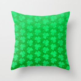St. Patrick's Day Clovers Throw Pillow