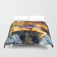 carousel Duvet Covers featuring Carousel by AlyZen Moonshadow