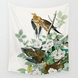 Carolina Turtle Dove, Birds of America by John James Audubon Wall Tapestry
