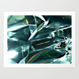 Pleated Metal Construction Art Print