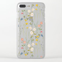 Dreamy Floral Pattern Clear iPhone Case