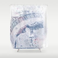 vintage map Shower Curtains featuring Vintage Map by MJ'designs - Marosée Créations