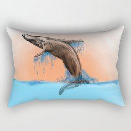 Breaching Whale Rectangular Pillow