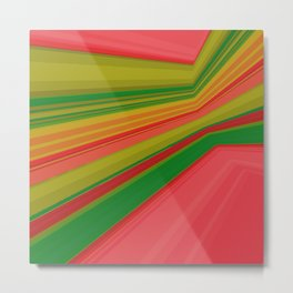Abstract geometric pattern. Multicolored stripes Metal Print