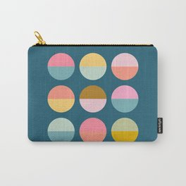 Happy Circles in Blue Carry-All Pouch