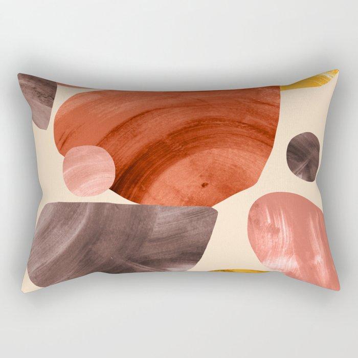 Mid-century Modern Papercut Shapes Rectangular Pillow