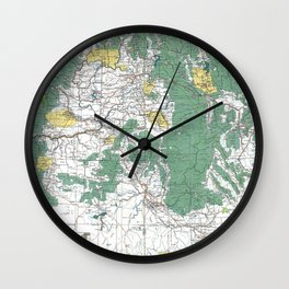 Pacific Northwest Map Wall Clock