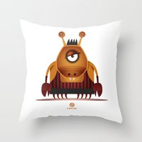 cancer Throw Pillows featuring CANCER by Angelo Cerantola