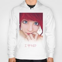 redhead Hoodies featuring Redhead by womoomow