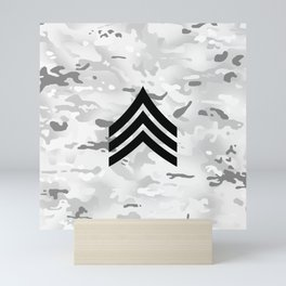 Sergeant (Snow Camo) Mini Art Print