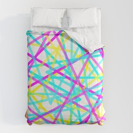 Abstract Lines CYM Comforters