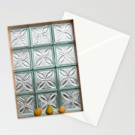 Three pears on the window Stationery Cards