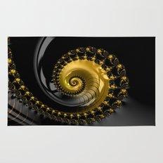 Fractal Shell Black Gold Rug