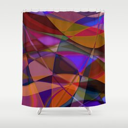 Abstract #376 Shower Curtain