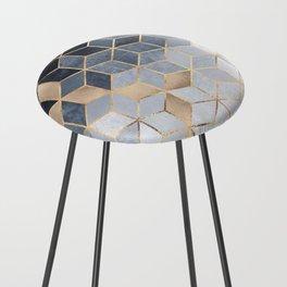 Soft Blue Gradient Cubes Counter Stool