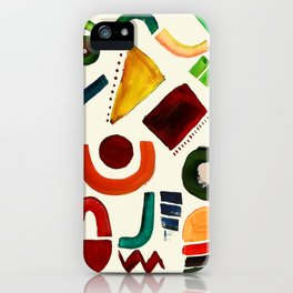 Shapes abstract pattern iPhone Case