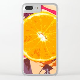 Orange for President Clear iPhone Case