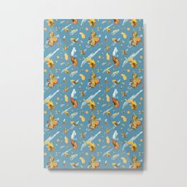 Swedish Spring Pattern Valborgmässoafton Metal Print