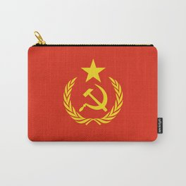 Russian Communist Flag Hammer & Sickle Carry-All Pouch