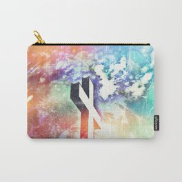 Holy Cross Pastel Distressed Carry-All Pouch