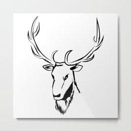 Ciervo negro Metal Print