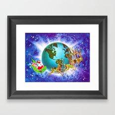 Global Santa Framed Art Print