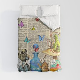 Alice In Wonderland Dictionary Page Celebration Comforters