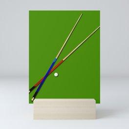 Snooker Cues Mini Art Print
