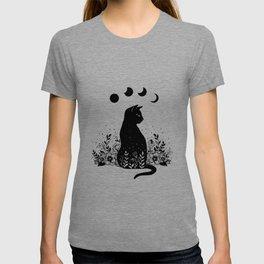 Night Garden Cat T-shirt