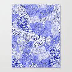 Blue sand Canvas Print