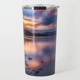 The Edge of Night sunset on the Sacramento River Travel Mug