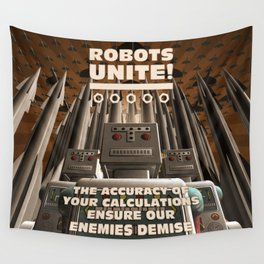 Robots Unite Wall Tapestry