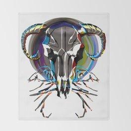 Graphic Steer Throw Blanket